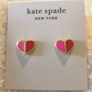 Kate Spade Heart Stud Earrings NWT